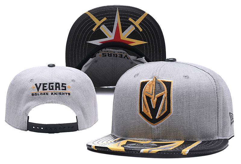 Vegas Golden Knights Fresh Logo Light Gray Adjustable Hat YD