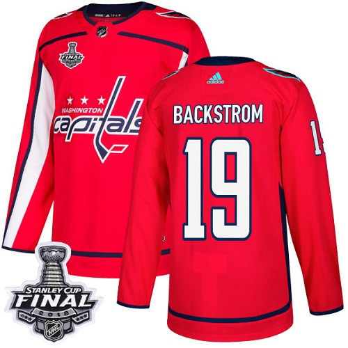Capitals 19 Nicklas Backstrom Red 2018 Stanley Cup Final Bound Adidas Jersey