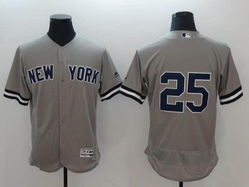 Yankees 25 Gleyber Torres Gray Flexbase Jersey