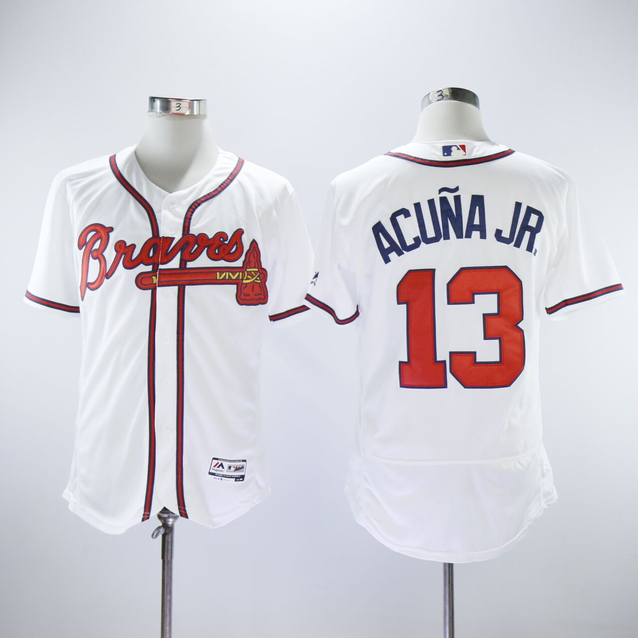 Braves 13 Ronald Acuna Jr. White Flexbase Jersey
