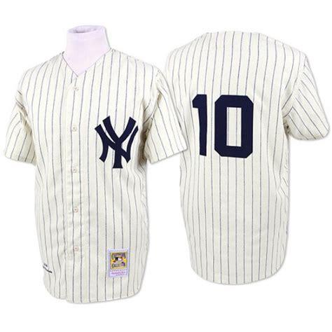 Yankees 10 Phil Rizzuto Cream Mitchell & Ness Jersey