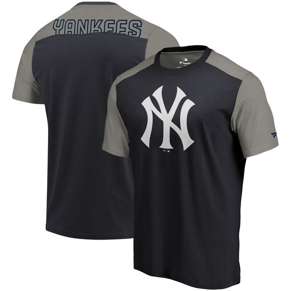 New York Yankees Fanatics Branded Big & Tall Iconic T-Shirt Navy & Gray
