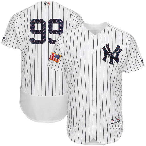 Yankees 99 Aaron Judge White 2018 Stars & Stripes Flexbase Jersey