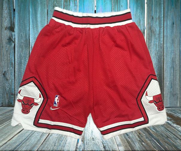 Bulls Red Nike Mesh Shorts