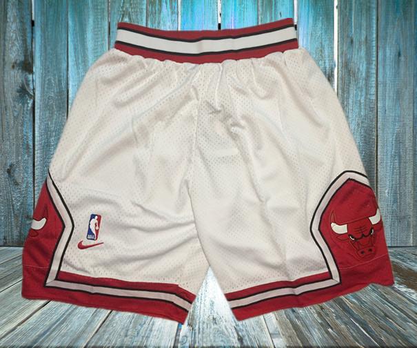 Bulls White Nike Mesh Shorts