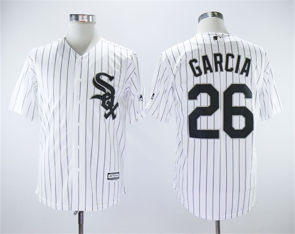 White Sox 26 Avisail Garcia White Cool Base Jersey
