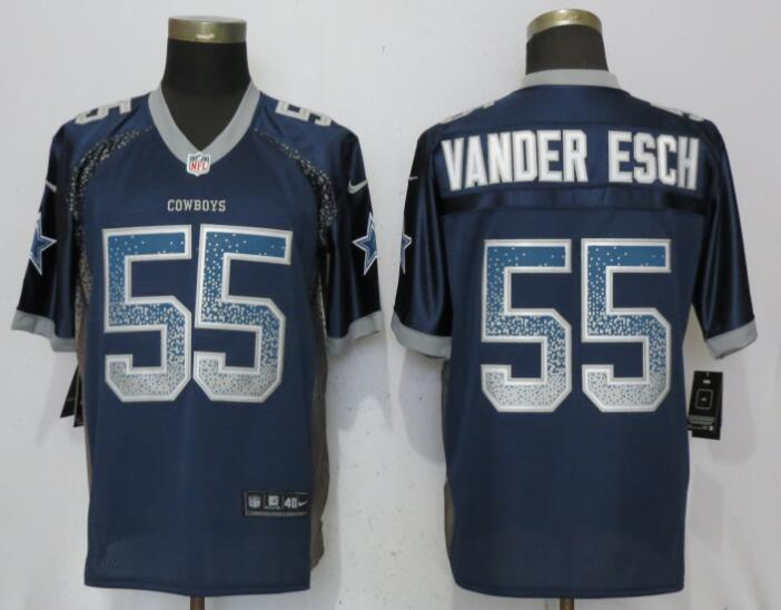 Nike Cowboys 55 Leighton Vander Esch Navy Drift Fashion Elite Jersey