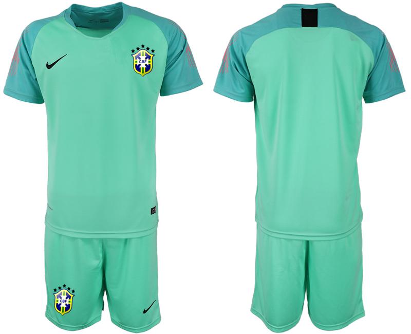 Brazil Green 2018 FIFA World Cup Goalkeeper Soccer Jersey