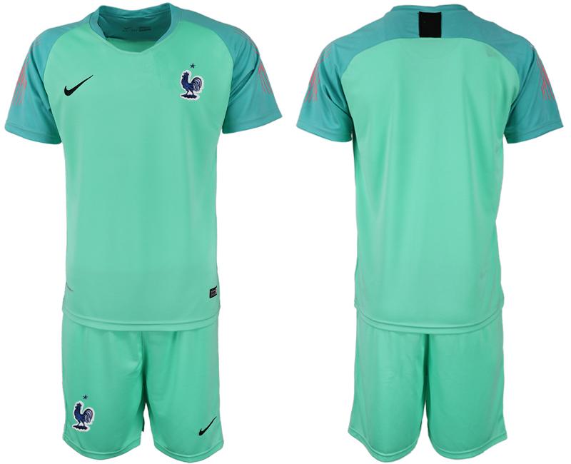 France Green 2018 FIFA World Cup Goalkeeper Soccer Jersey