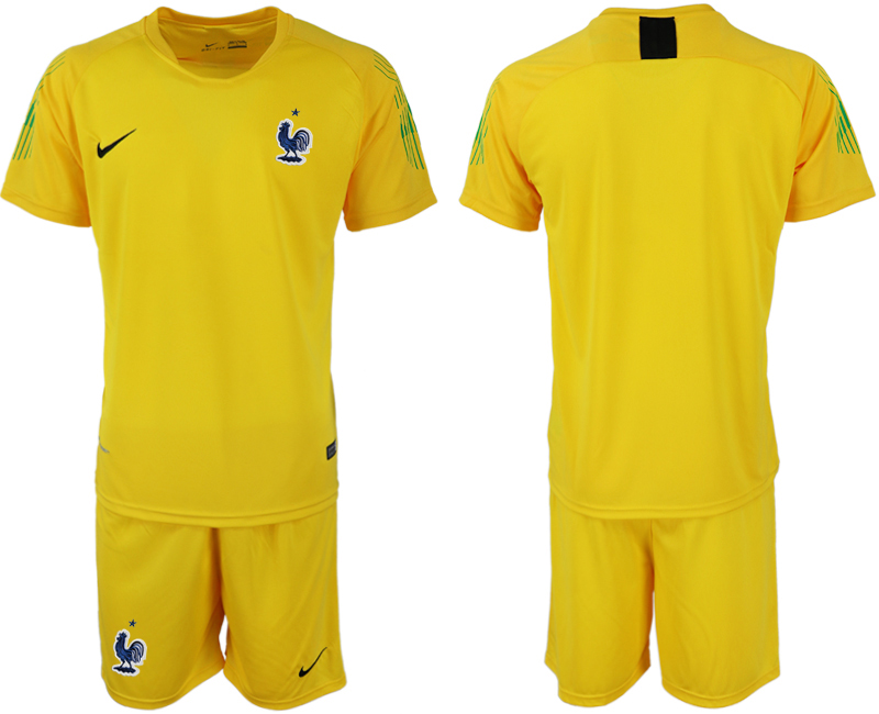 France Yellow 2018 FIFA World Cup Goalkeeper Soccer Jersey