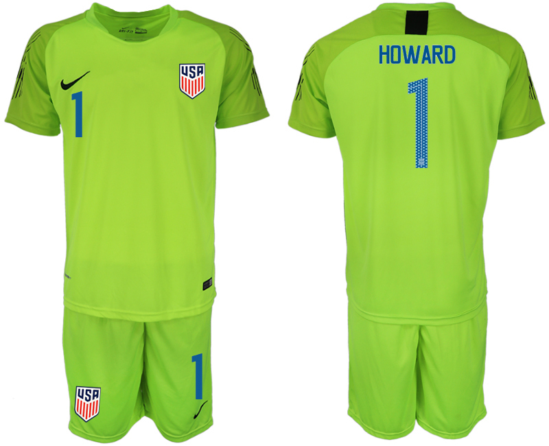 2018-19 USA 1 HOWARD Fluorescent Green Goalkeeper Soccer Jersey