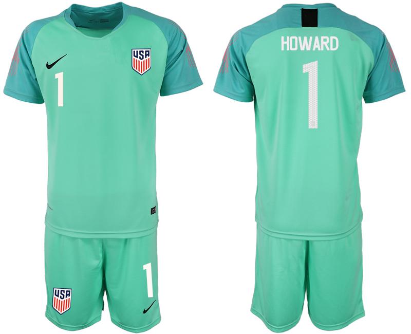 2018-19 USA 1 HOWARD Green Goalkeeper Soccer Jersey