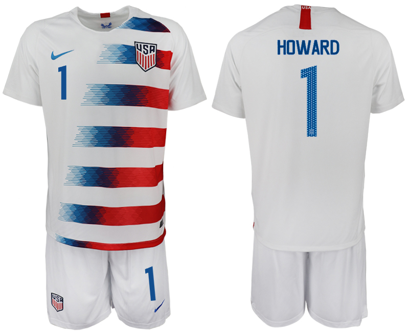 2018-19 USA 1 HOWARD Home Soccer Jersey