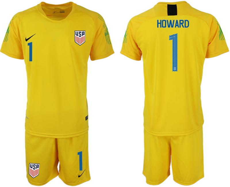2018-19 USA 1 HOWARD Yellow Goalkeeper Soccer Jersey