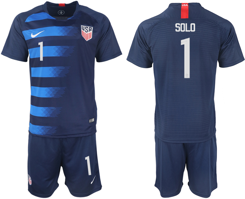 2018-19 USA 1 SOLO Away Soccer Jersey