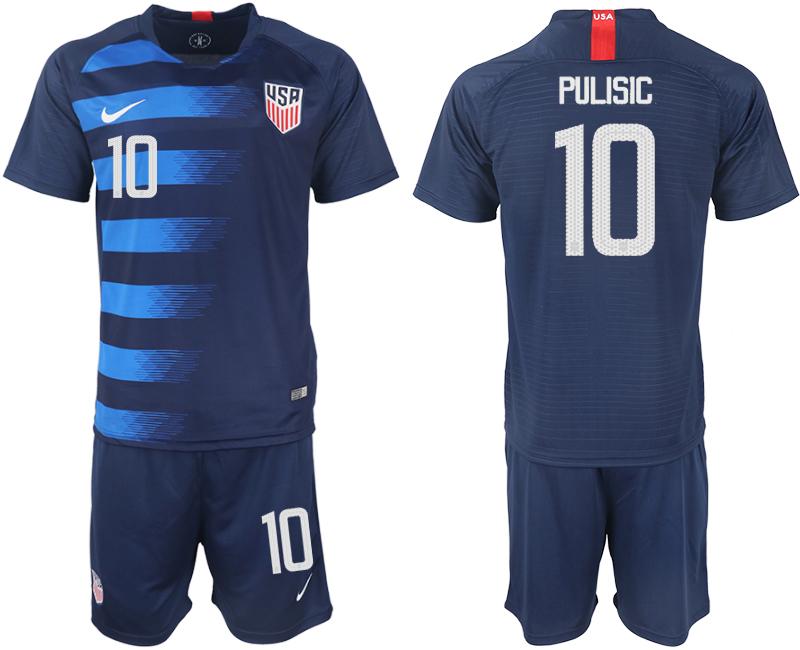 2018-19 USA 10 PULISIC Away Soccer Jersey