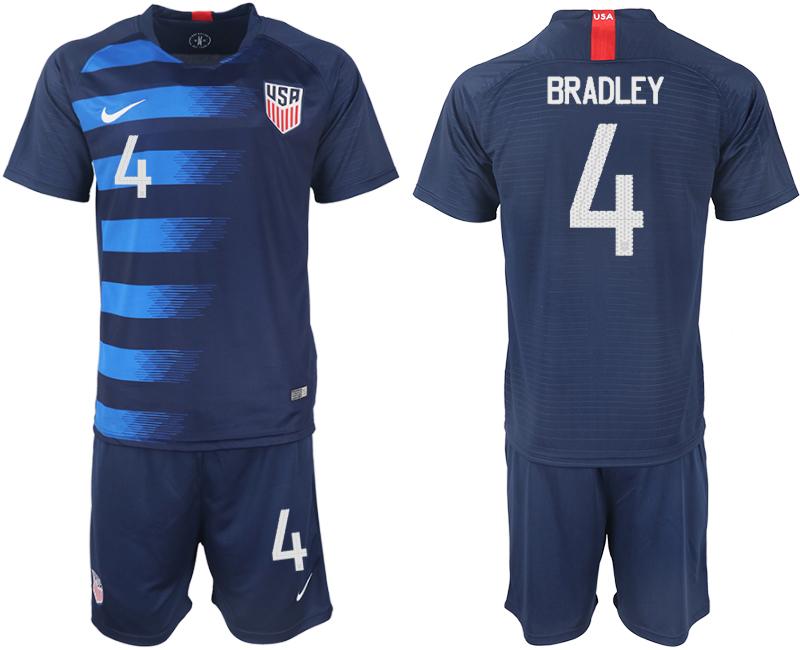 2018-19 USA 4 BRADLEY Away Soccer Jersey
