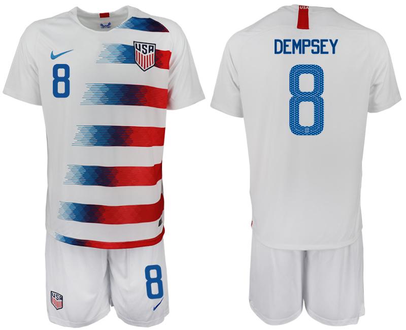 2018-19 USA 8 DEMPSEY Home Soccer Jersey