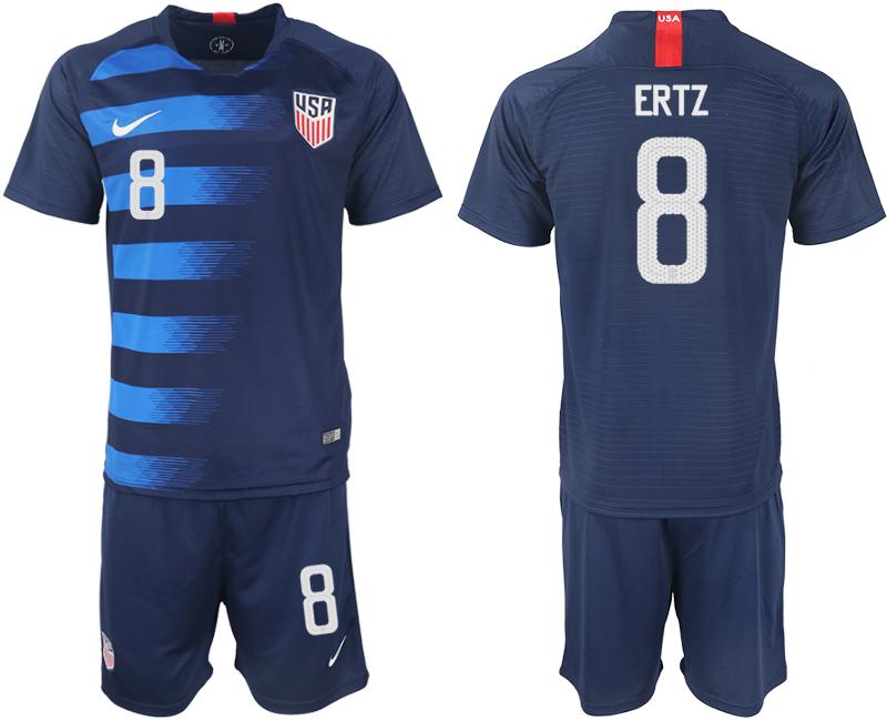 2018-19 USA 8 ERTZ Away Soccer Jersey
