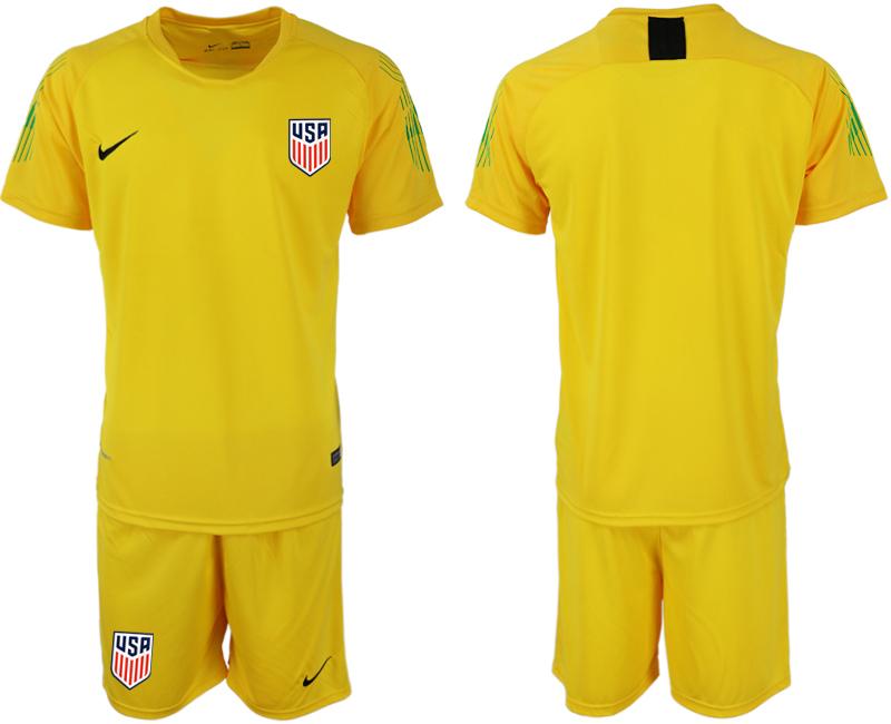 2018-19 USA Yellow Goalkeeper Soccer Jersey