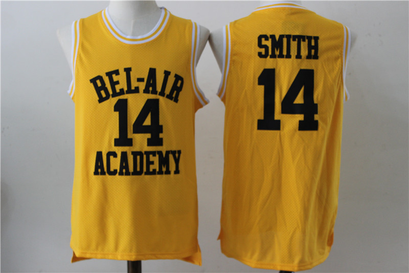 Bel-Air Academy 14 Will Smith Yellow Stitched Movie Jersey