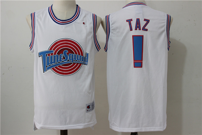"Tune Squad ! ""Taz"" White Stitched Movie Jersey"