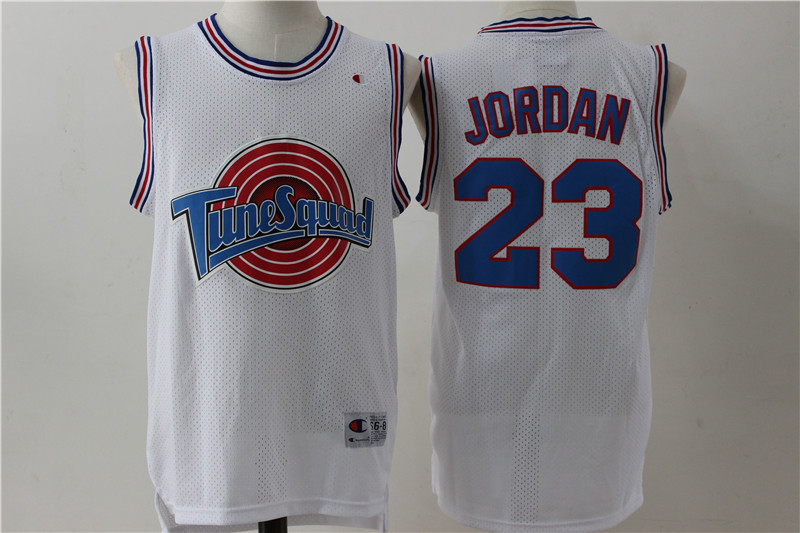 Tune Squad 23 Michael Jordan White Stitched Movie Jersey