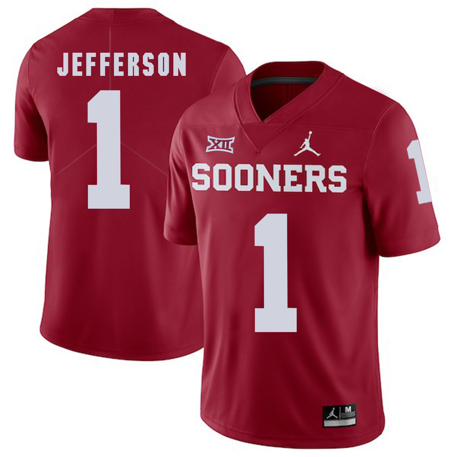 Oklahoma Sooners 1 Tony Jefferson Red College Football Jersey