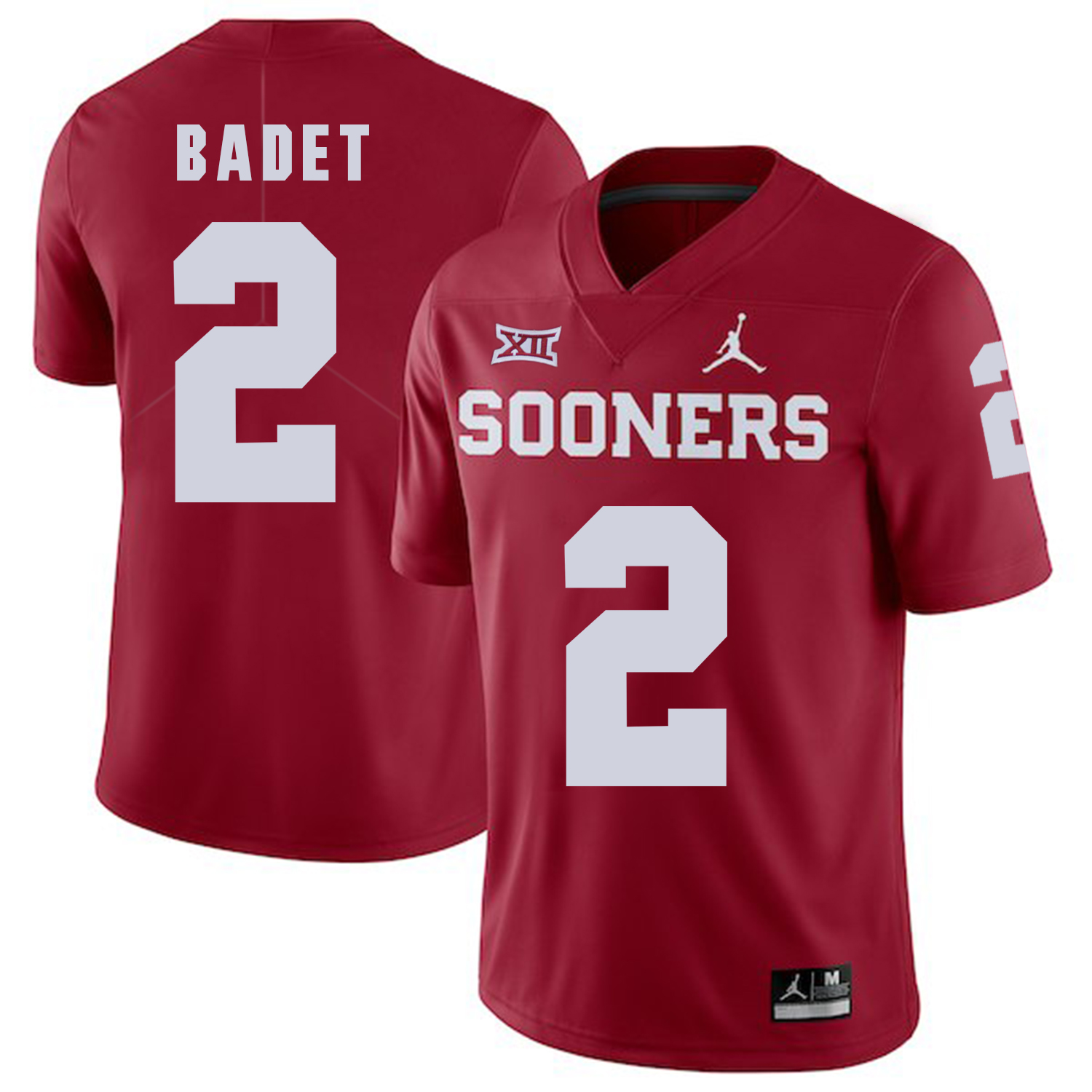 Oklahoma Sooners 2 Jeff Badet Red College Football Jersey
