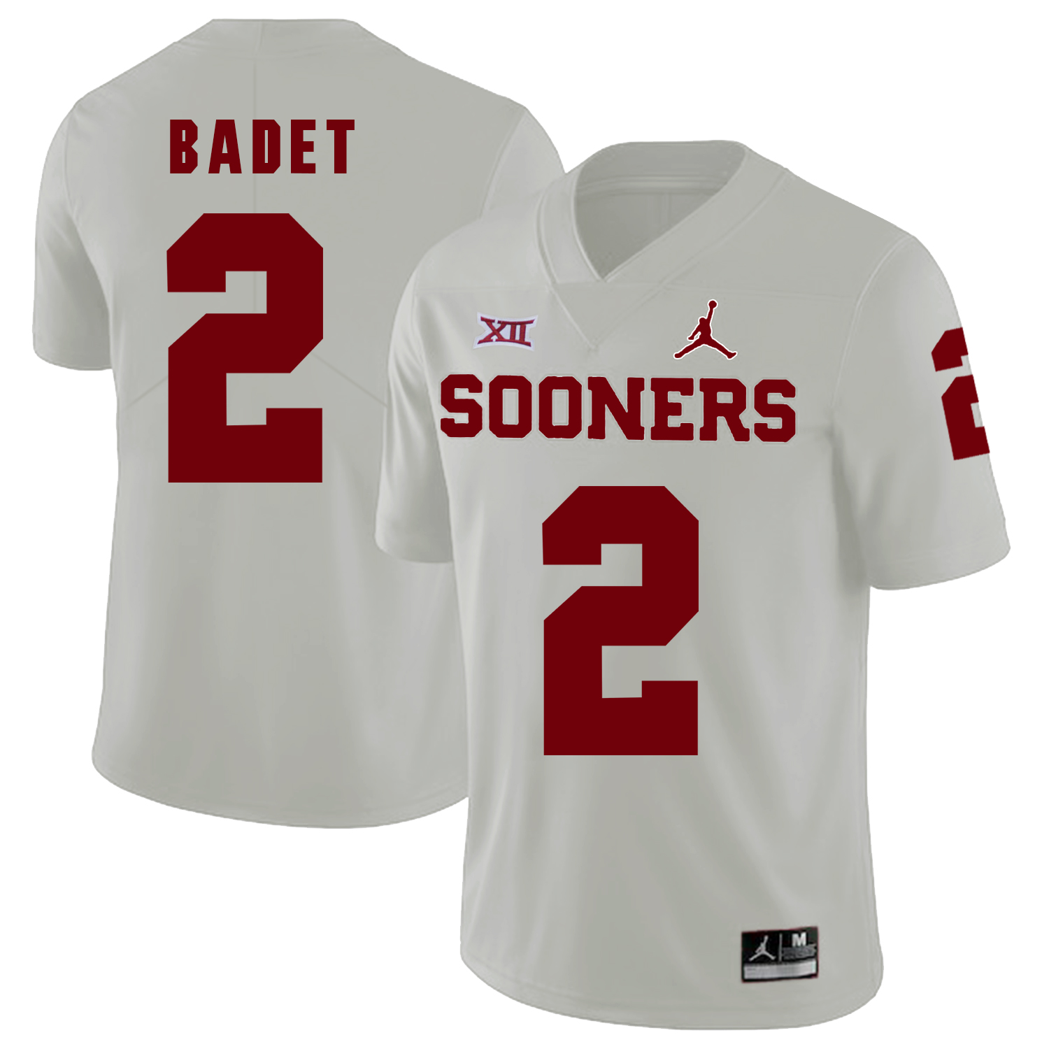 Oklahoma Sooners 2 Jeff Badet White College Football Jersey