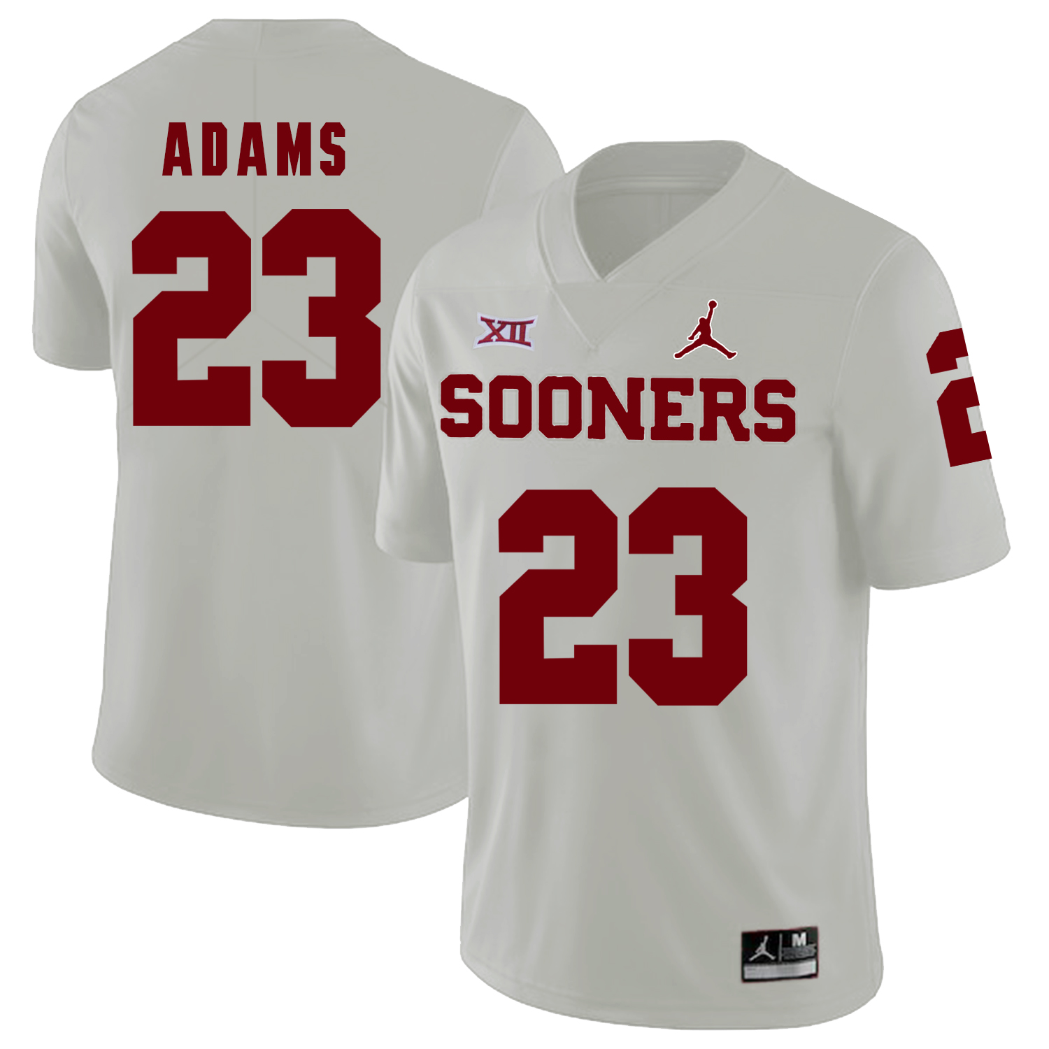 Oklahoma Sooners 23 Abdul Adams White College Football Jersey