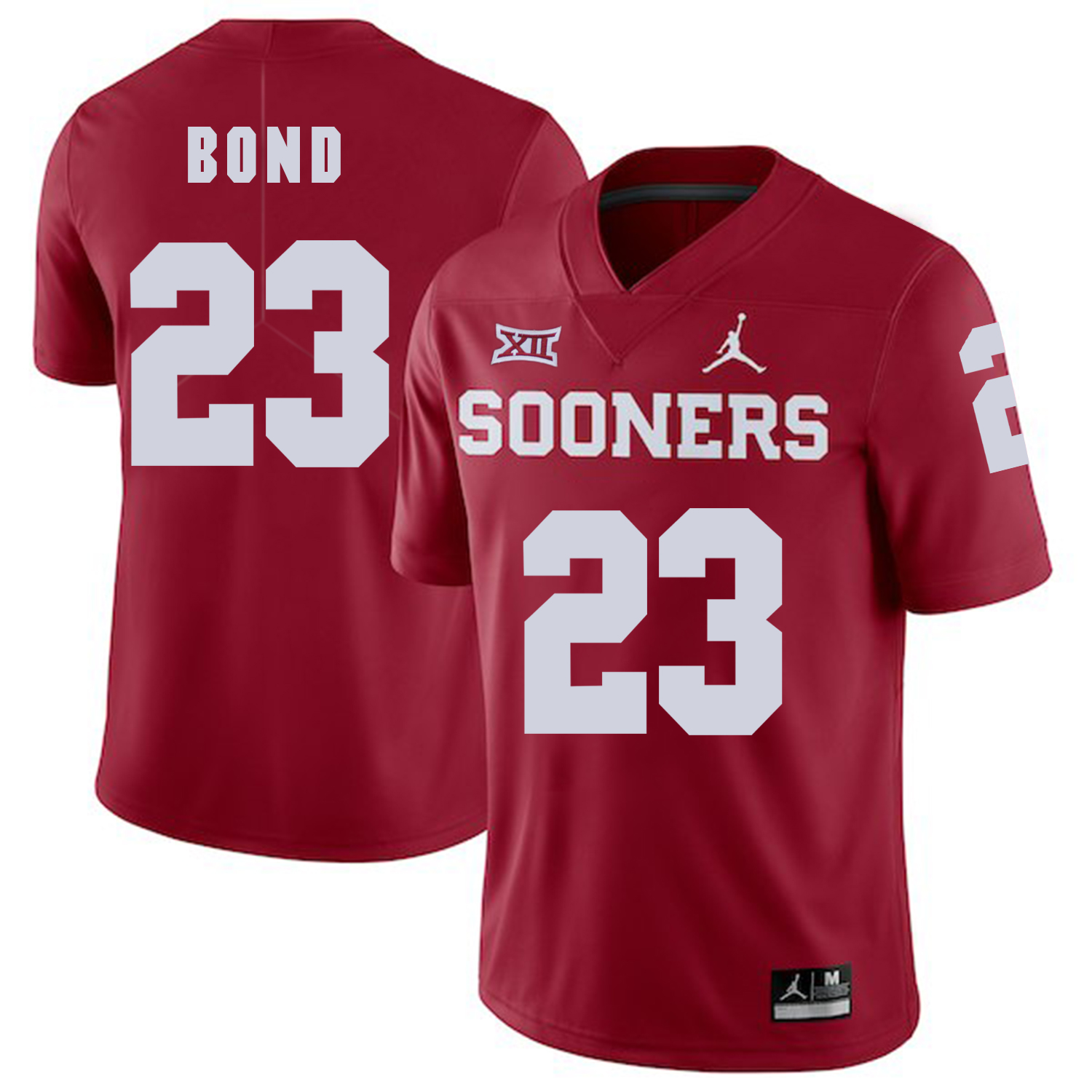 Oklahoma Sooners 23 Devante Bond Red College Football Jersey