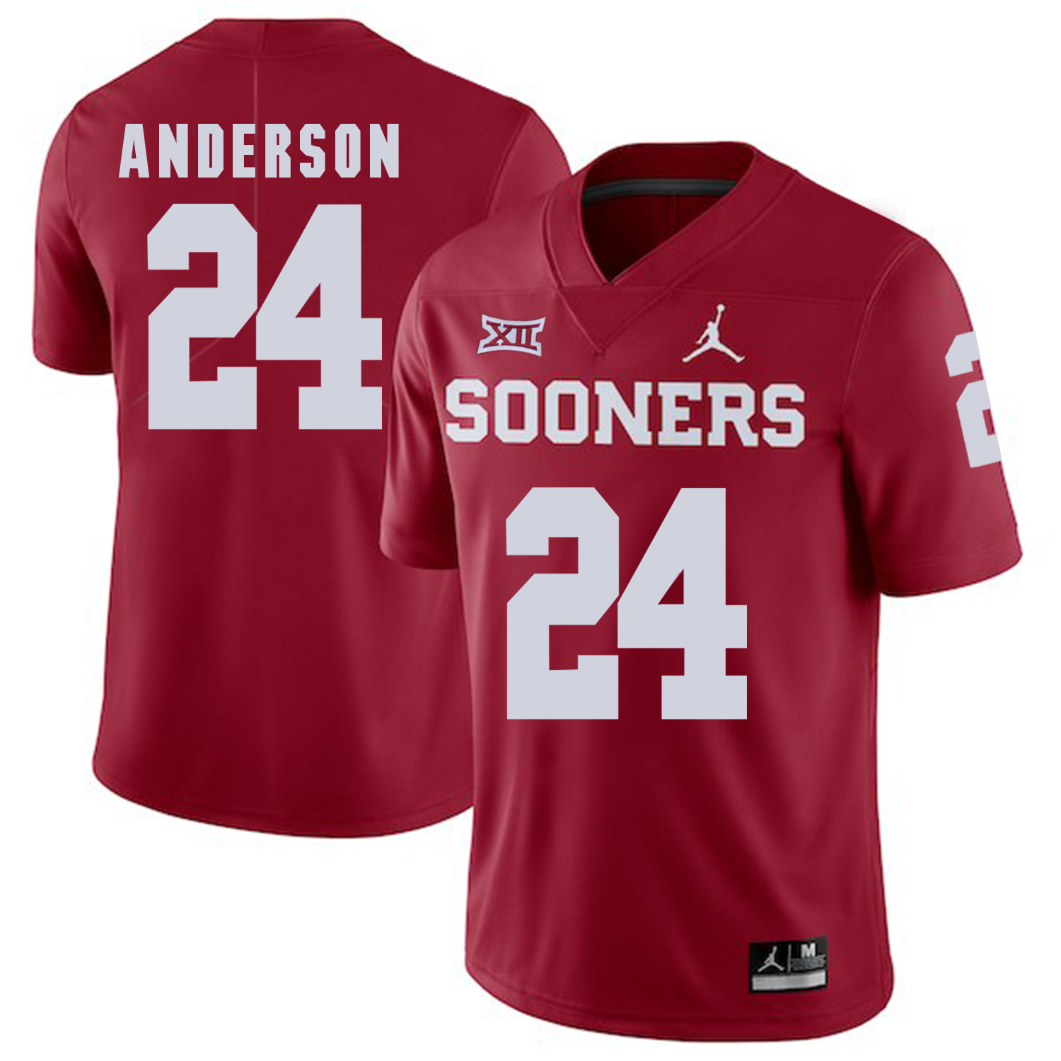 Oklahoma Sooners 24 Rodney Anderson Red College Football Jersey