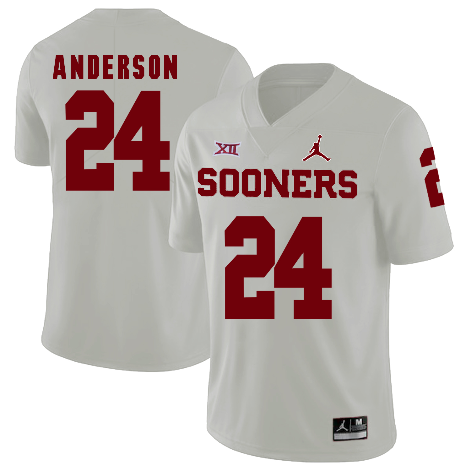 Oklahoma Sooners 24 Rodney Anderson White College Football Jersey