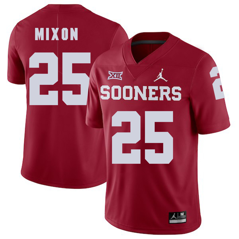 Oklahoma Sooners 25 Joe Mixon Red College Football Jersey