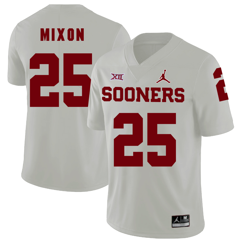 Oklahoma Sooners 25 Joe Mixon White College Football Jersey
