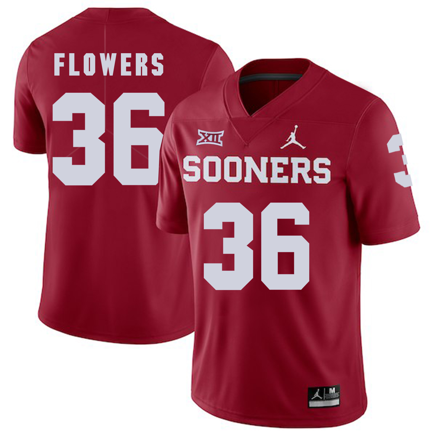 Oklahoma Sooners 36 Dimitri Flowers Red College Football Jersey