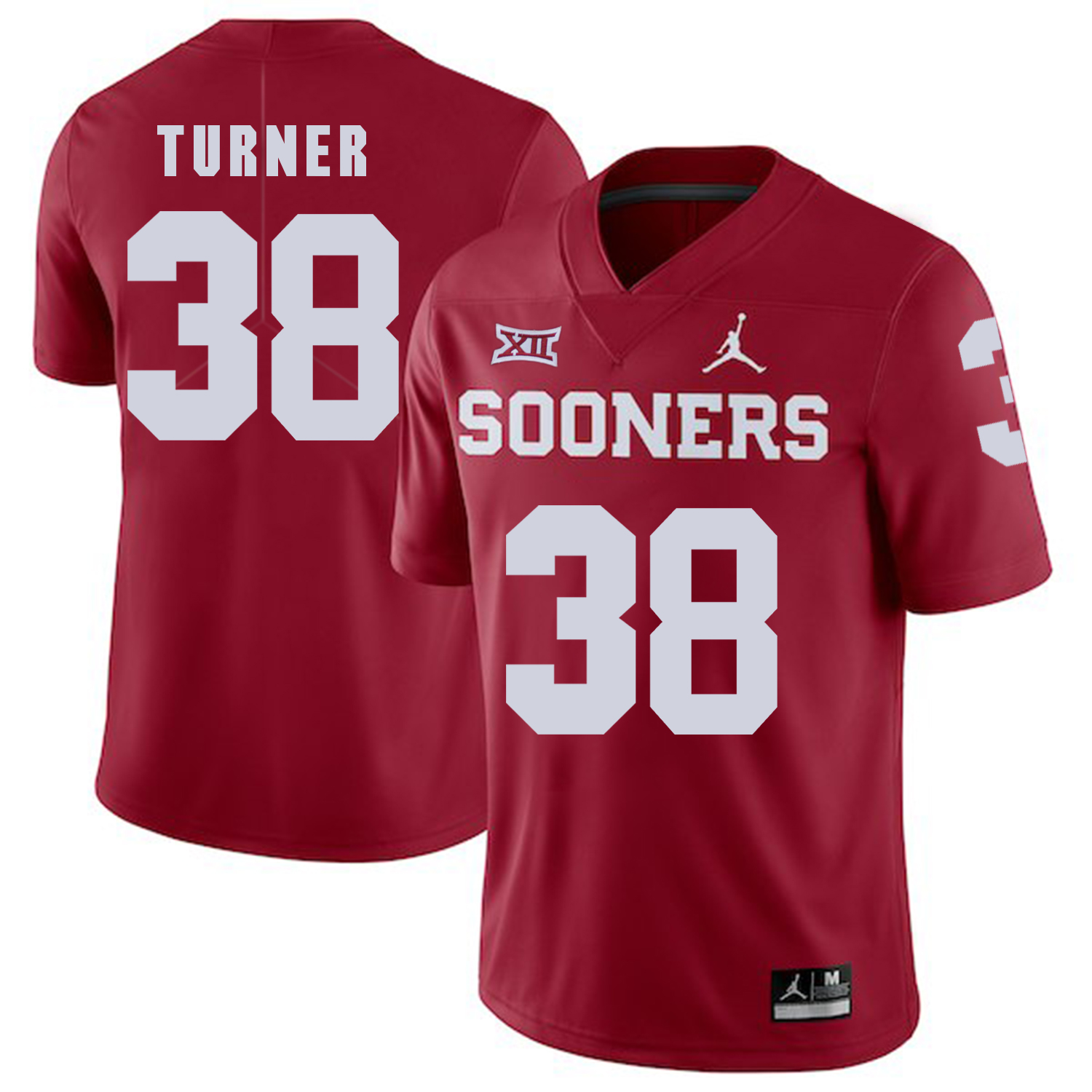 Oklahoma Sooners 38 Reggie Turner Red College Football Jersey