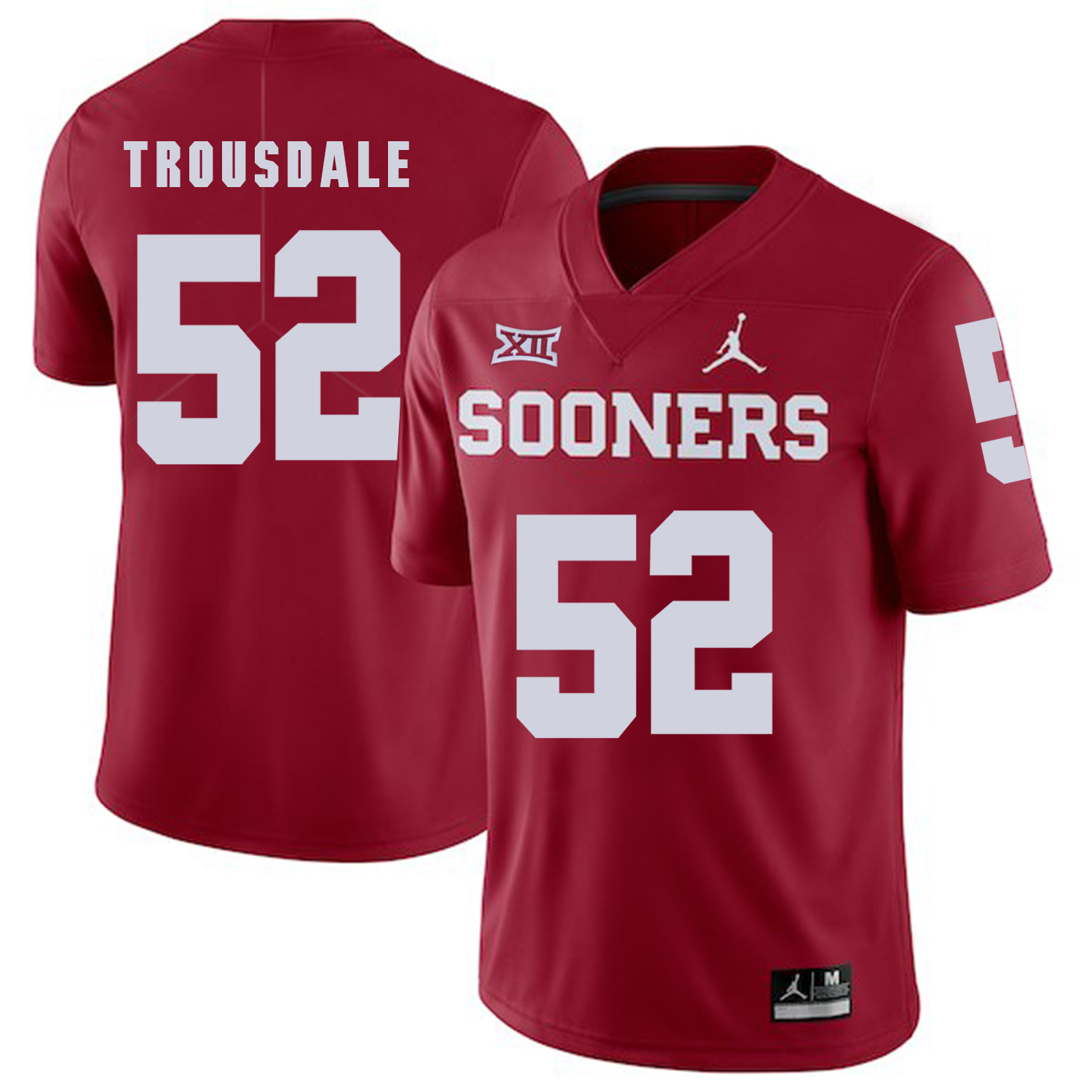 Oklahoma Sooners 52 Beau Trousdale Red College Football Jersey