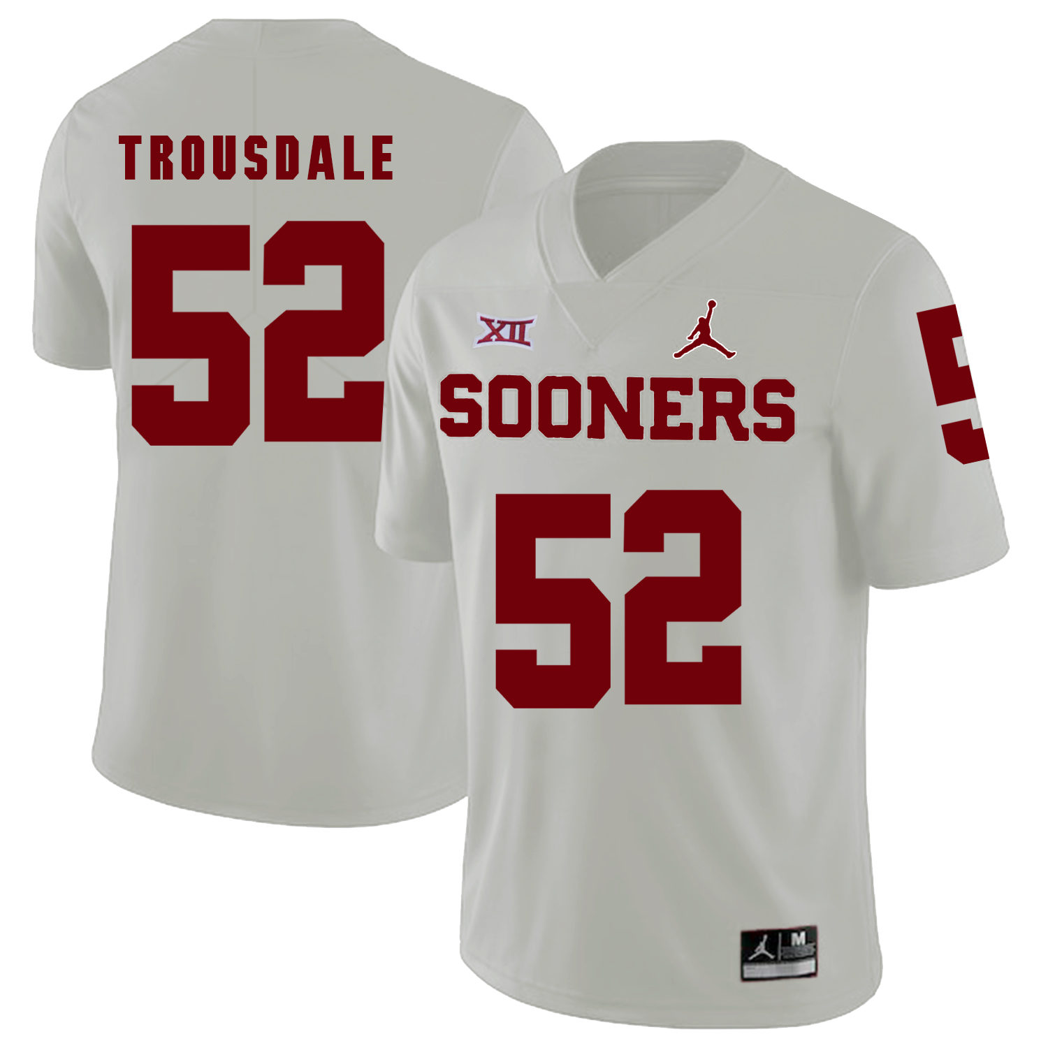 Oklahoma Sooners 52 Beau Trousdale White College Football Jersey