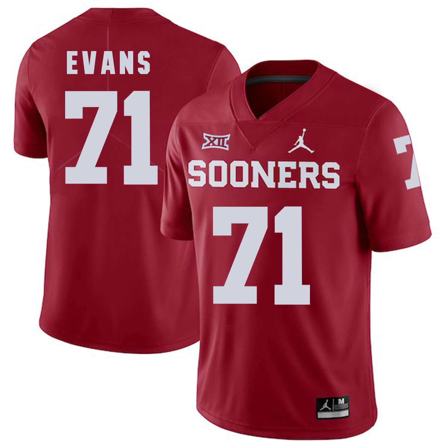 Oklahoma Sooners 71 Bobby Evans Red College Football Jersey