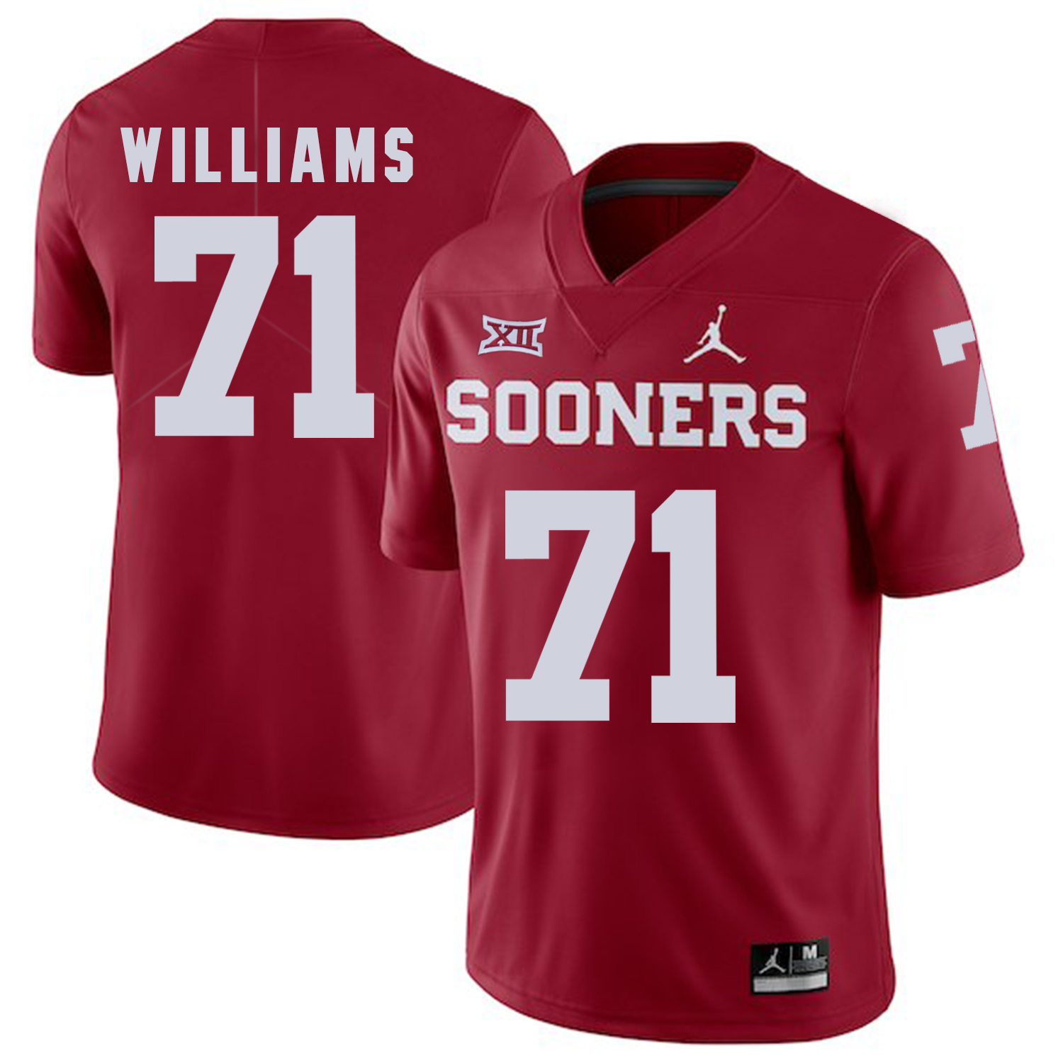 Oklahoma Sooners 71 Trent Williams Red College Football Jersey