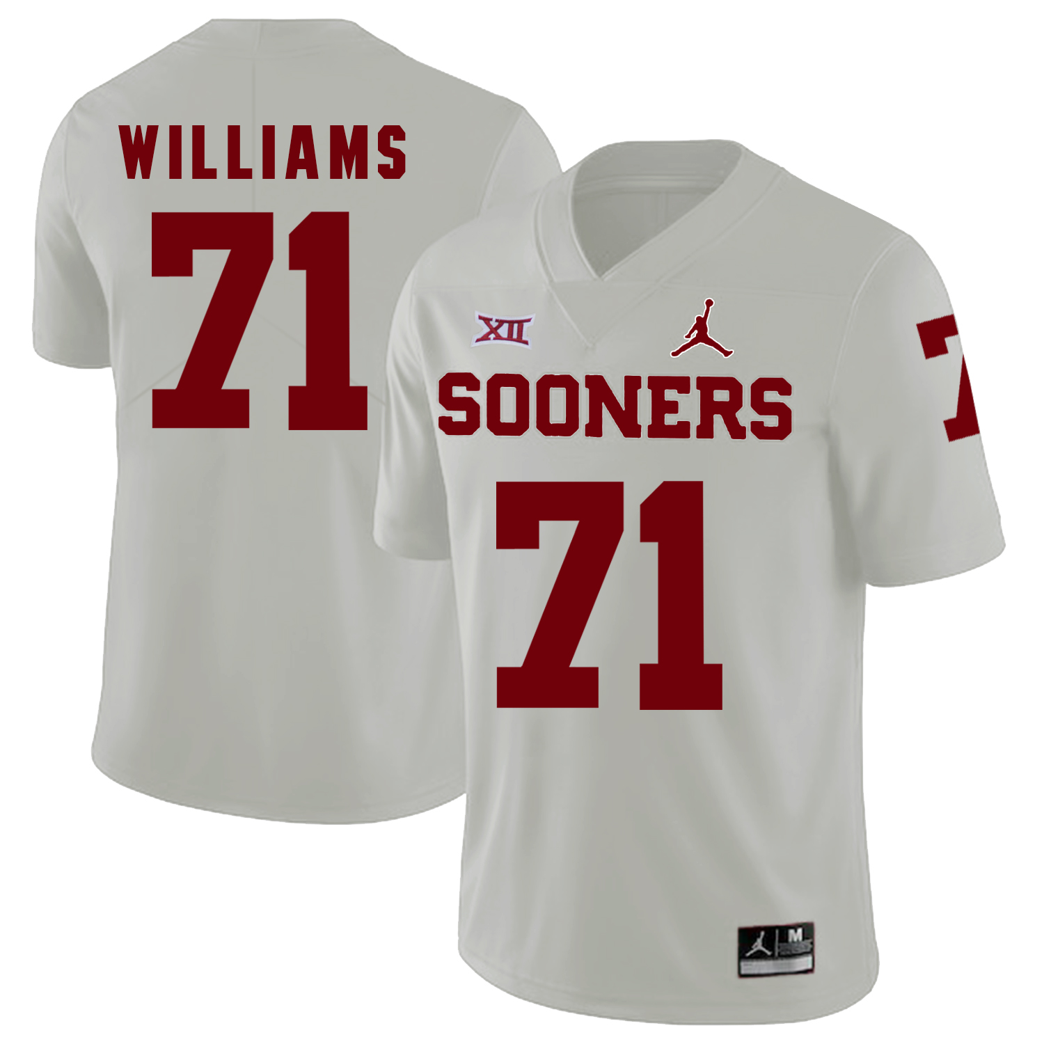 Oklahoma Sooners 71 Trent Williams White College Football Jersey