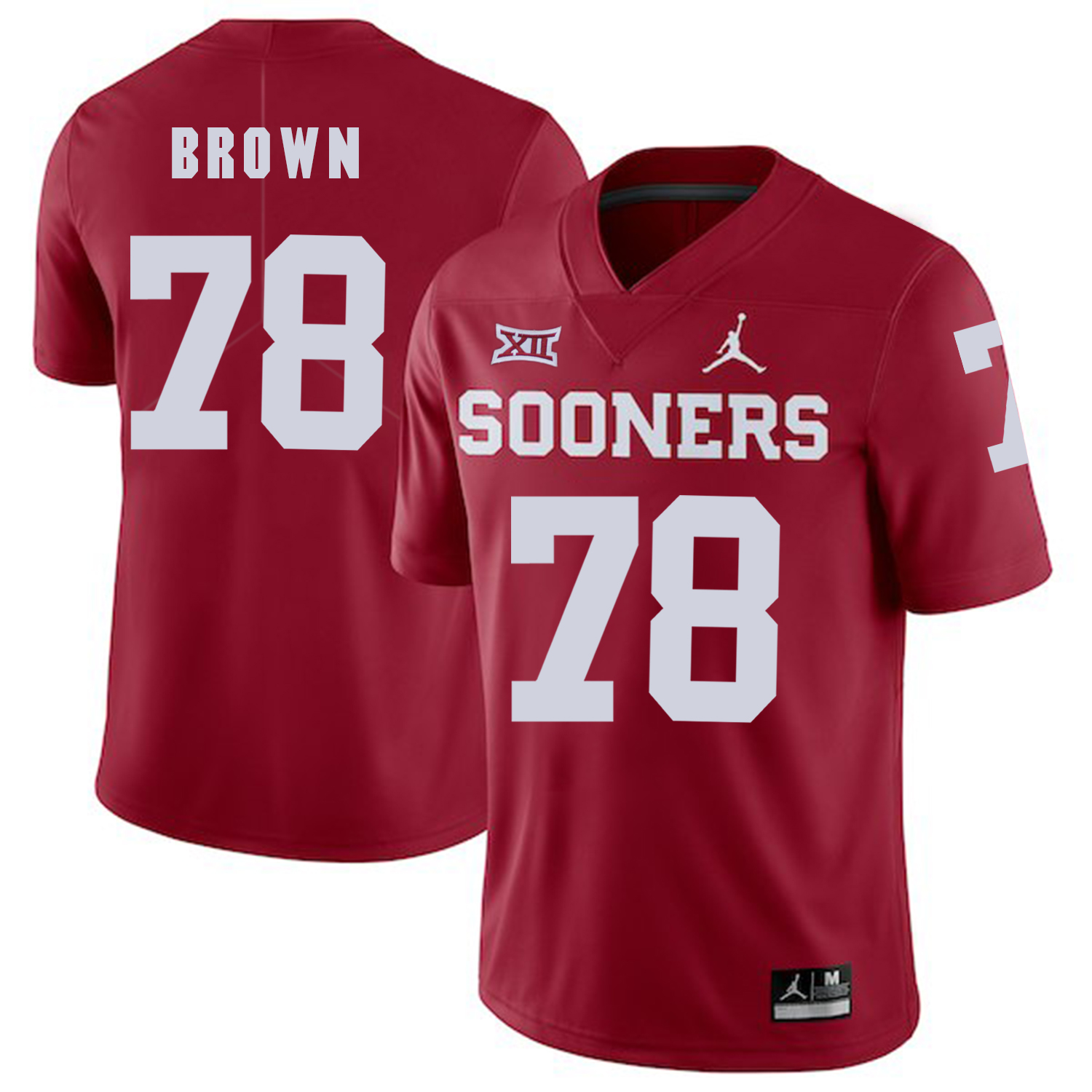 Oklahoma Sooners 78 Orlando Brown Red College Football Jersey