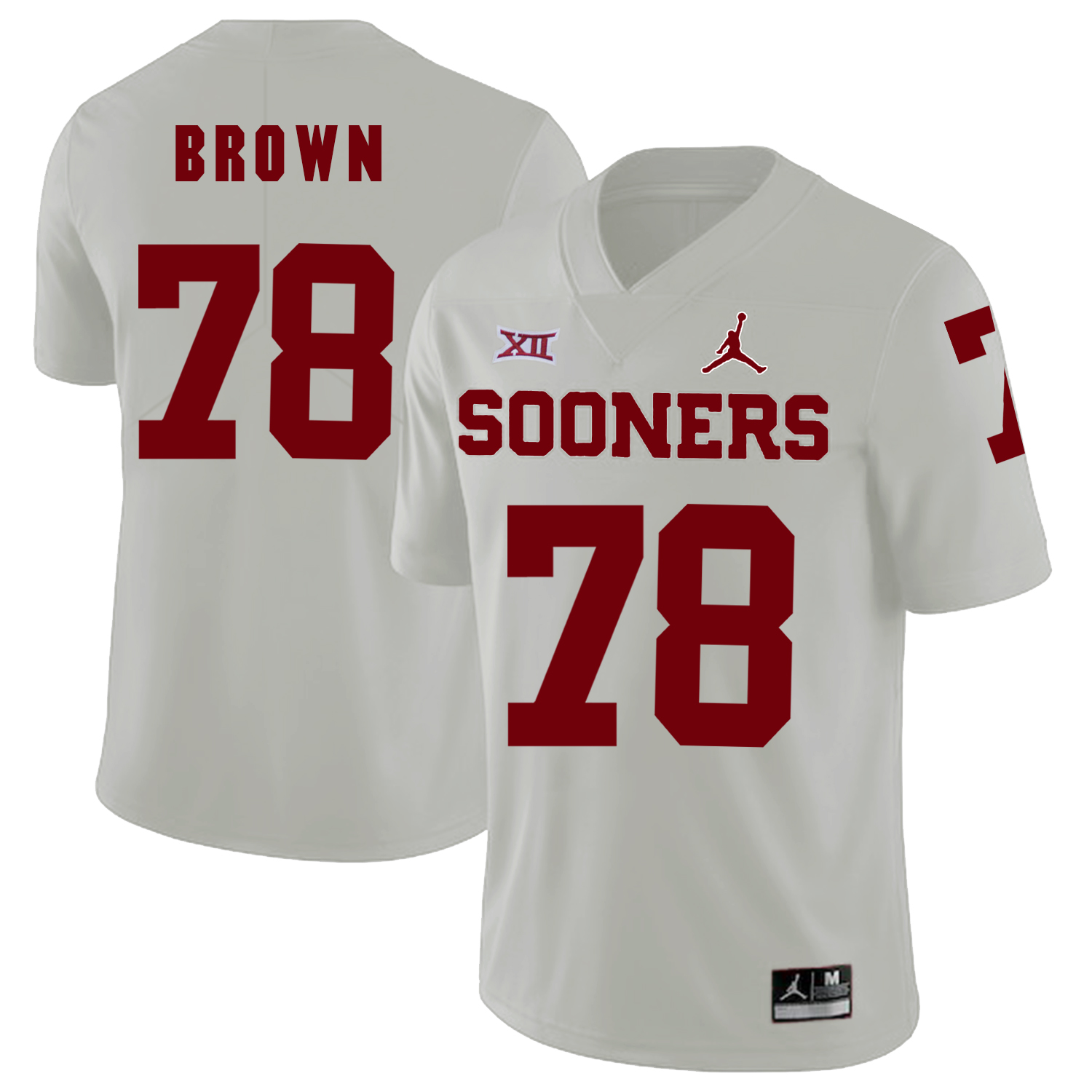 Oklahoma Sooners 78 Orlando Brown White College Football Jersey