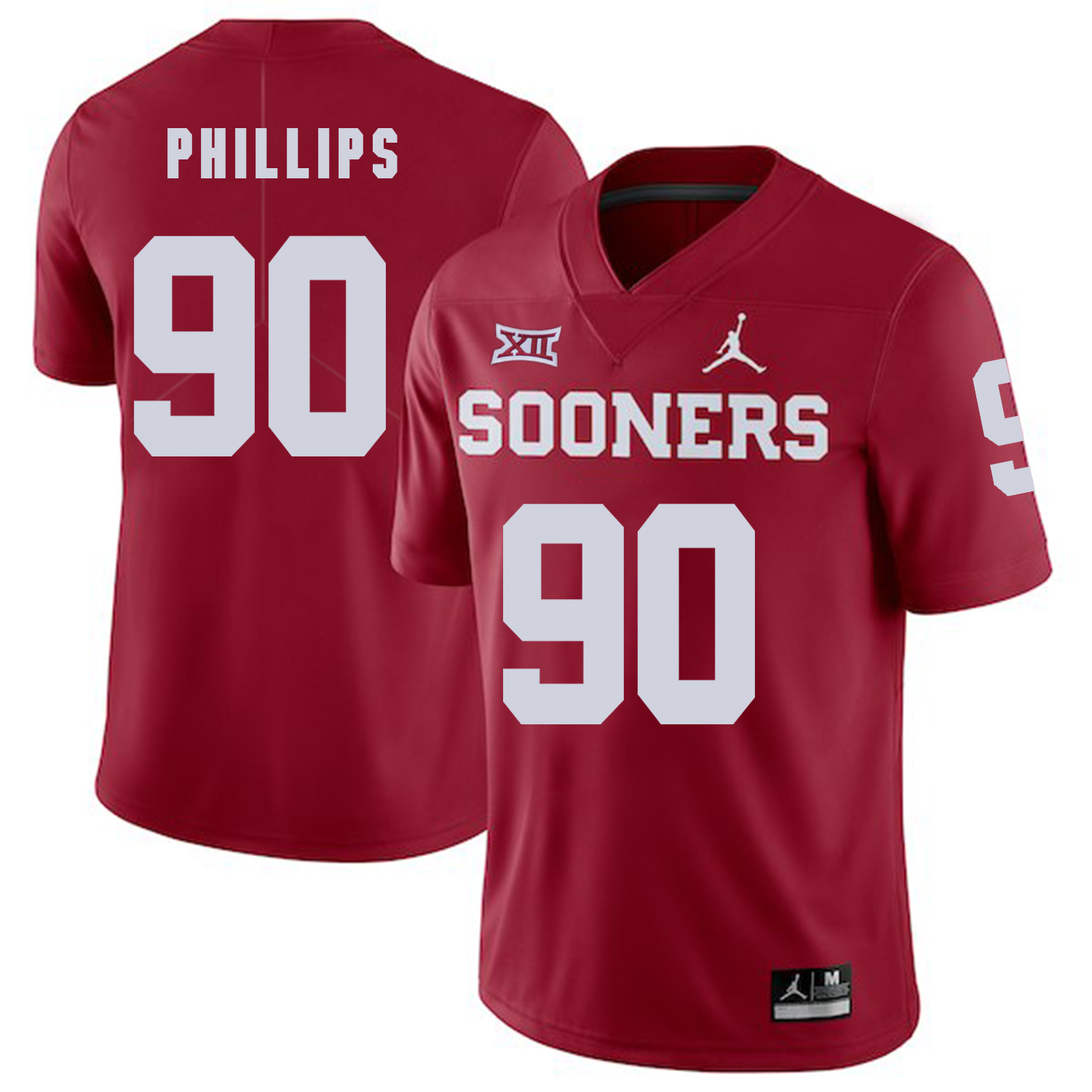 Oklahoma Sooners 90 Jordan Phillips Red College Football Jersey