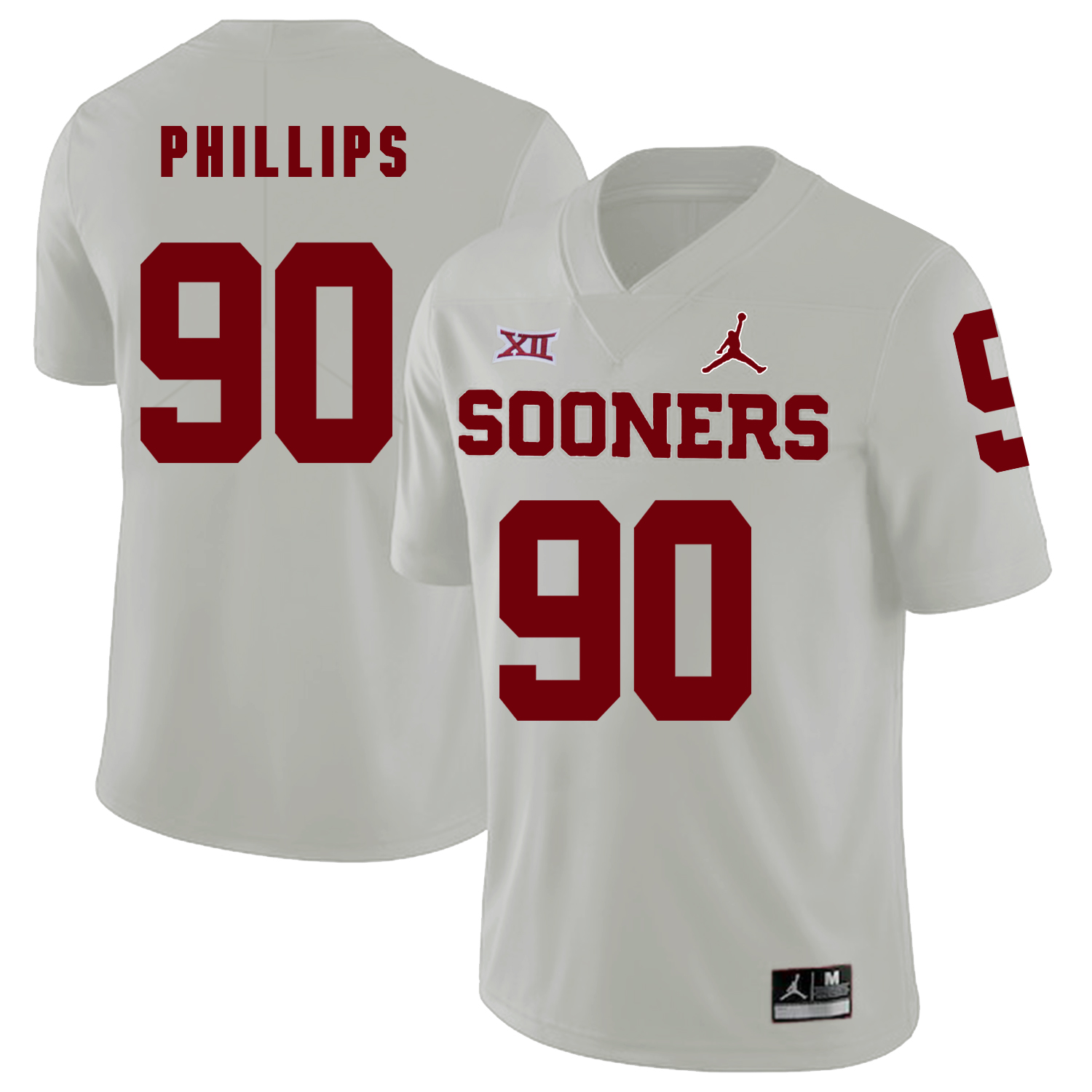 Oklahoma Sooners 90 Jordan Phillips White College Football Jersey