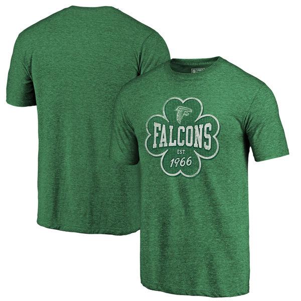 Men's Atlanta Falcons NFL Pro Line by Fanatics Branded Kelly Green Emerald Isle Tri Blend T-Shirt