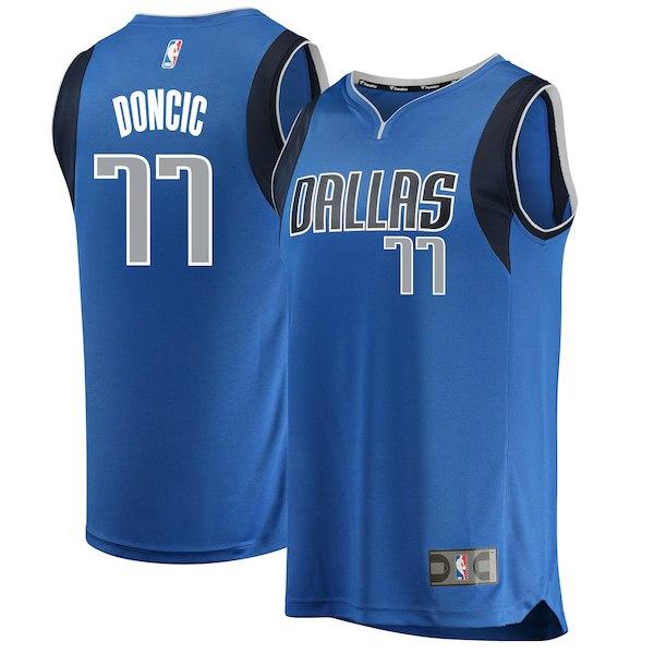 Mavericks 77 Luka Doncic Blue 2018 NBA Draft Swingman Jersey