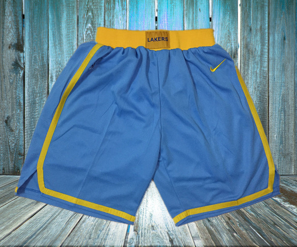 Lakers Light Blue Nike Retro Shorts